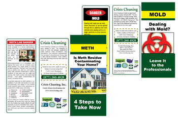 image of crisis cleaning brochures